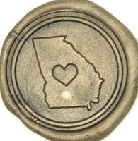 Wholesale Vintage Heart Your US State Customize Picture Wedding Invitation Wax Seal Stamp set