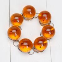 crystal ball wholesale - 2 cm Dragon Ball Z Stars Crystal Balls Keychain Pendant Keyring star Christmas gifts