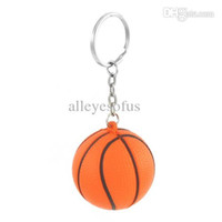 basketball stress ball - Orange Black Basketball Shape Sport Stress Ball Link Chain Key Ring Wonderful Gift