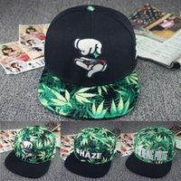 Wholesale Fashion Finger Weed Leaf Baseball Cap For Men Women Summer Style HIp Hop Snapback Caps Hats Gorras Boina Hoquei