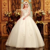 Wholesale 2015 the latest luxurious crystal wedding han edition bind trailing the princess wedding dresses