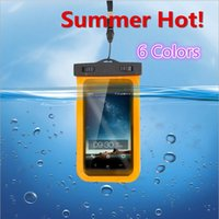 Wholesale 2015 Summer CM Waterproof PVC Phone Bag Underwater Clear Phone Case Cell Pouch For Samsung Galaxy iPhone HTC LG Huawei etc
