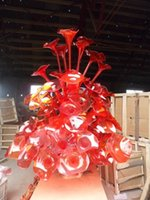 Wholesale Modern large Villa hotel lobby interior hall hallway top grade club decorative hand made chihuly style handmade glass sculpture FYF
