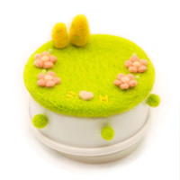 Wholesale three romantic Valentine Music Box coaster lawn sheep blankets poke fun handmade DIY materials package