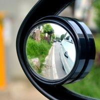 Precio de Venta al por mayor de la sombra auto-Shade Vista posterior Wholesale-2pcs / set redondo del espejo del coche del vehículo convexo conducción segura de ángulo muerto lateral Lluvia Guardia Auto Espejos