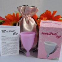Wholesale for women and girls size pure silicone menstrual cup silicone egg cup silicone barbell