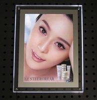 acrylic photo frame with light - New acrylic crystal photo frame box is mm thickness with the latest research highlight article led lights