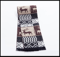 Wholesale Newest Cheap Reindeer Scarves Classic Nice For Winter Spring Autumn Good Quality Soft Cozy and Skin friendly Christmas Gift