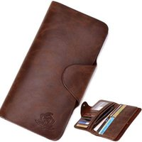 name brand purses - men s wallet Brand name genuine Leather Wallet for men Gent Leather purses hot fashion A5