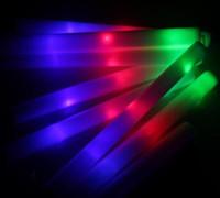 Wholesale Cheer Ite multi color material foam changing led foam stick foam glow stick christmas Electronic Concert Multicolor sponge stick flash stick