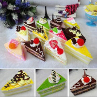 Wholesale Christmas gifts cartoon ice cream cake model Fake cake bread model toy pastry dessert toy food fridge magnets sticker