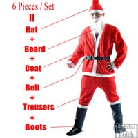 Wholesale New Arrivals Christmas Santa Claus Costume Accessories Sets Cute Christmas Cosplay For Men Order over sets DHL or FedEx