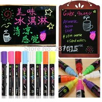 Wholesale Freen Shipping Highlighter Fluorescent Liquid Chalk Marker Pen For LED Writing Board Round mm