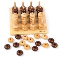 Wholesale Montessori Baby Toys Four Connect Sensory Teaching Chess Family Game Educational Toys Gift