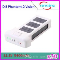Wholesale 30pcs New V mAh MAH Battery For DJI Phantom Vision LCD power Display Quadcopter Longer flight time ZY DJI
