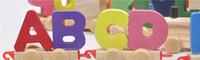 3-6years alphabet toy train - Wooden Train Children Wooden Cartoon Puzzle Toys Train Alphabet Puzzles English Alphanumeric Cognitive Wooden Puzzle