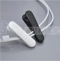 cable tidy - Earphone Headphone Cable Clip Clamp Cable Tidy Clamp Cloth white black