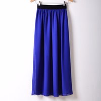 Wholesale Fashion Long Maxi Skirts Newest Long Length Women Skirts Colorful Casual Skirts for Women Clothing