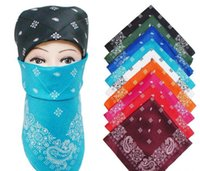 bandana party supplies - High quality cheap National Cotton Paisley Bandana Double Side Head Wrap Scarf Wristband colors pack packs supply