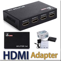 Wholesale 4 Port HDMI Splitter Full HD P Video HDMI Switch Splitter For HDTV STB PS3 DVD With Retail package