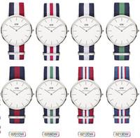 Unisex watch faces - 2015 Fashion Daniel wellington watches DW watch Wristwatch For men women Nylon Strap Band Colck large face plate mm Quartz Watch watching