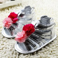 Wholesale New Arrivals Kids Baby Girl s Sandals Children s First Walker Shoes M PU Leather Cotton Fabric Soft Bottom Cute KA235