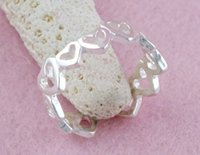 Band Rings beautiful toe rings - fashion popualr sterling silver fashion beautiful cute hearts toe rings