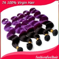 purple black hair color - 1b purple black to purple two tone ombre color hair weft body wave inch g pc brazilian virgin human hair