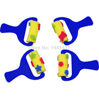 baby gifts rollers - Cute Pattern Sponge Roller Brush seal Graffiti Diy Painting Tool drawing toys Best Gift For You Baby
