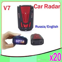 Wholesale 360 Detection Laser Auto Radar Detector Car Radar Detector V7 with LED Display Russia and English Voice for Speed Limited ZY LD