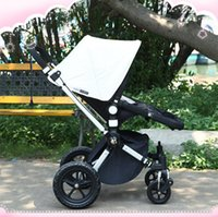 Cheap Hot Selling Bugaboo Folding Baby Stroller Aluminum Alloy Fram Baby Wagon Sigle Seat---4 Wheels and Accessories