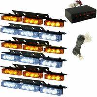 led emergency light bar - New hot sale Amber White LED Emergency Warning Strobe Lights Bars Car Dash Grille Tow