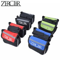 Wholesale ZERGLBR MTB Mountain Bikes Road Bicycles Double Saddle Frame Bags Front Package Packet Parts