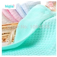 Wholesale bamboo fiber baby towels bibs soft baby face towel