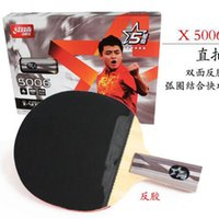 Wholesale 2016 new Table tennis shoot red five star table tennis rackets Some opinions play double loop combination