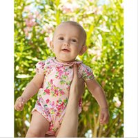 Wholesale BR025 hot selling girls jumpsuits fashion baby rompers summer infant romper with flowers retails and