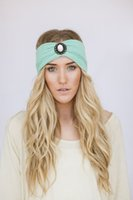 Wholesale Fashion Women Crochet Knit headbands with shiny diamond inch inch Jewelry Headband Party Headpiece Hair Band