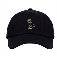 strap back hats - Ovo Drake Caps Mens Hip Hop Streetwear Fashion Brand Black Snapback Baseball Cap Strap back Hotline Bling Gold Owl Swag hats