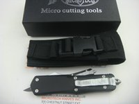 Wholesale New hot sale microtech knife Scarab A07 double front flat blade camping knife
