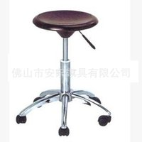 aluminum bar chairs - Lift foot laboratory pulley rotating chair barber chair plastic ABS casual student bar stool D62