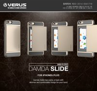 Wholesale New Verus Hybrid PC TPU Dual layer Card holder case cover For iPhone s Phone case