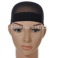 Wholesale 2pcs Black Unisex Stocking Wig Liner Cap Snood Nylon Stretch Hairnets Mesh