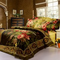 Wholesale classic European style oil printing floral sexy rose bedding set queen size bedclothes quilt cover bed sheet cotton