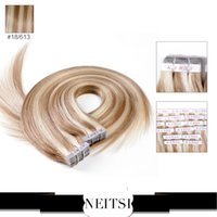 tape hair remy - Neitsi inch P18 g Tape in Hair Extensions Glue Skin Weft PU Hair Tape Hair Extensions Remy Hair Skin Weft Hair Extensions