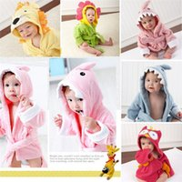 Wholesale 10pcs new arrive best price Baby s Bathrobe designs Baby Bath Towels Animal Children Bath Robe Newborn Blankets Bathing Towel Hooded D301