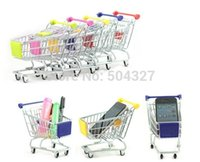 Wholesale EMS Pieces Big Size Mini Replica Trolley Mini Shopping Trolley with Retail Box