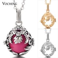 angels plant - VOCHENG Chime Harmony Maternity Necklace Colors Angel Ball Pendants VA