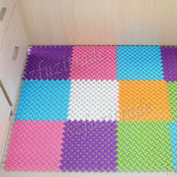 Wholesale Colors Anti slip Mats Bath Split Joint Mats Door Mat High Quality PVC Soft Splicing Carpet AIA00358I J
