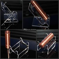 Wholesale Acrylic e cig display box shelf stands clear cases holder disassembled rack one hole for Ecig Mechanical mod single mech mod DHL