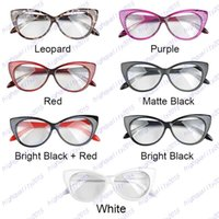 Wholesale Plain Eye Frame Spectacle Cat Eye glasses Eye Styling Leopard Eyeglasses Frame Women Brand Birthday Gift